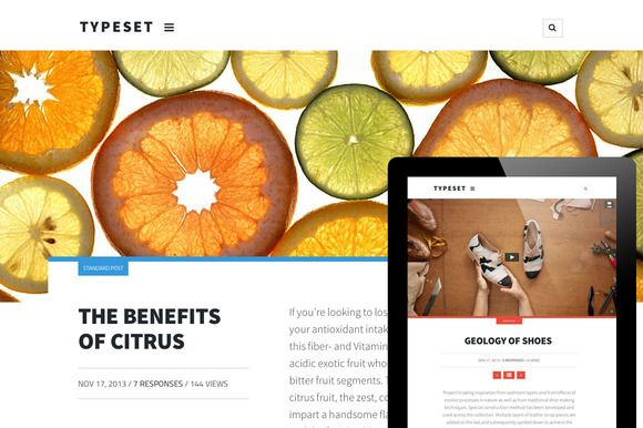 Check out Typeset. A Magazine Blog & Portfolio by Courtyard Themes on Creative Market