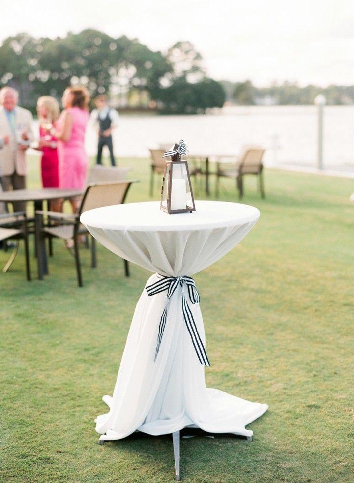 Cool Nautical Virginia Wedding from Jodi Miller  - outdoor cocktail hour idea
