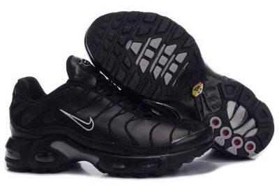 Sales 2016 Nike Air Max Tn Men shoes tn requin pas cher homme Chaussures Classic black leather embroidery hook A88002