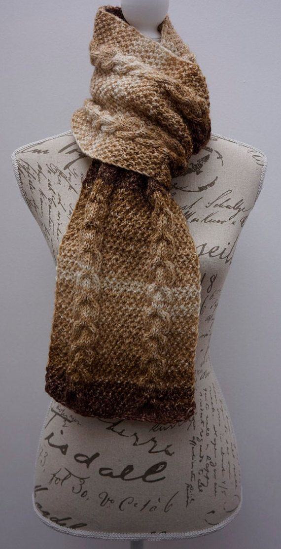 UllyWoolly Hand-Knitted Brown Color Scarf