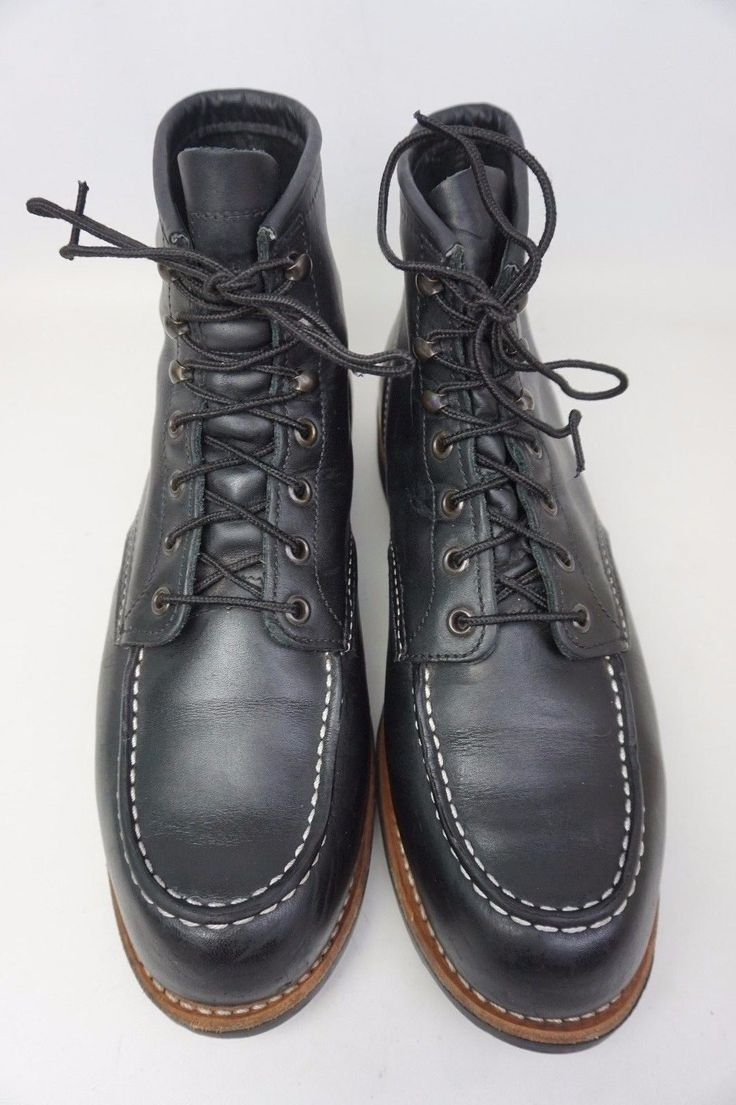 """These are black Red Wing 6"""" Cooper Boot, style 2964 in size 10.5 D. The outsole is 12 3/8"""". - Round apron toe. Sizing: True to size. Leather upper, rubber sole. THE SHOES DO NOT COME WITH THE BOX OR DUSTBAG OR THE SHOE TREES. 