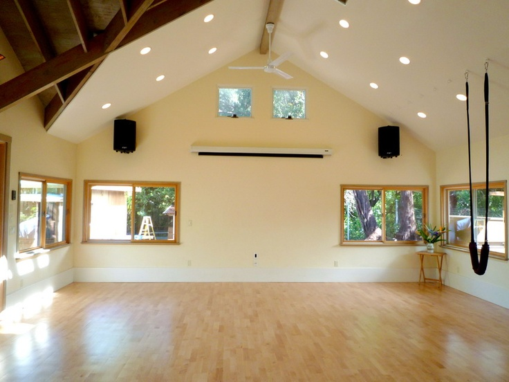 Dance Studio Built In Garage Addition Mirrored Wall Too