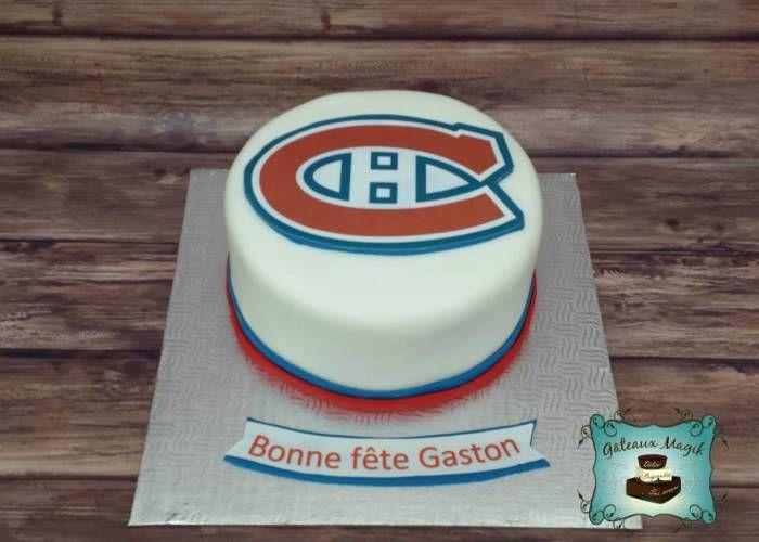 hockey canadien montreal cake gateau www.facebook.com/gateauxmagik