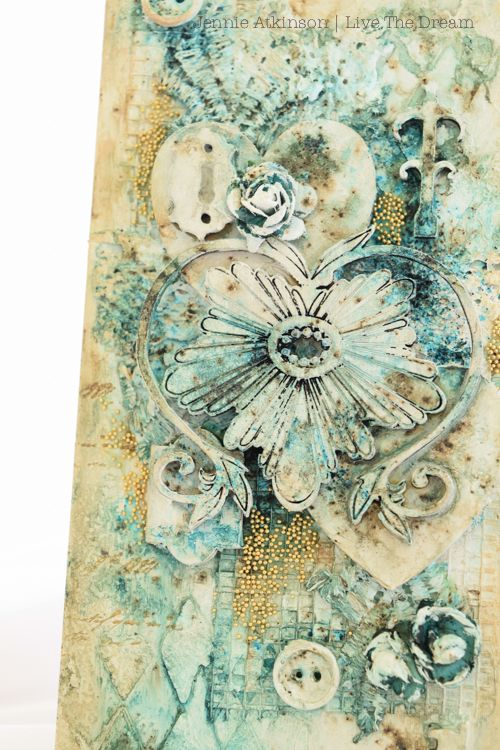 Hello Everyone! and welcome to my mixed media Door Hanger which layers a number of Calico Craft Parts pieces to get this sumptuous effect. ...