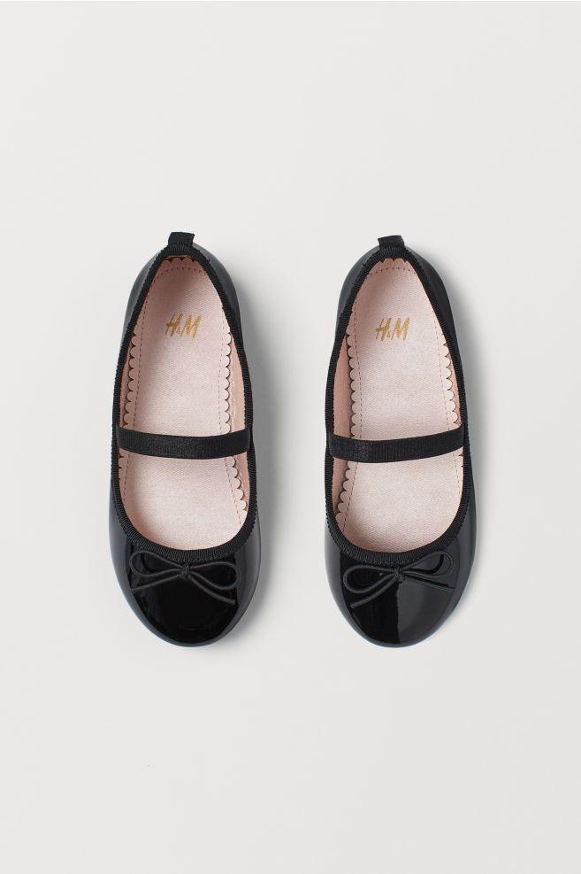 Black ballet flats, Kid shoes