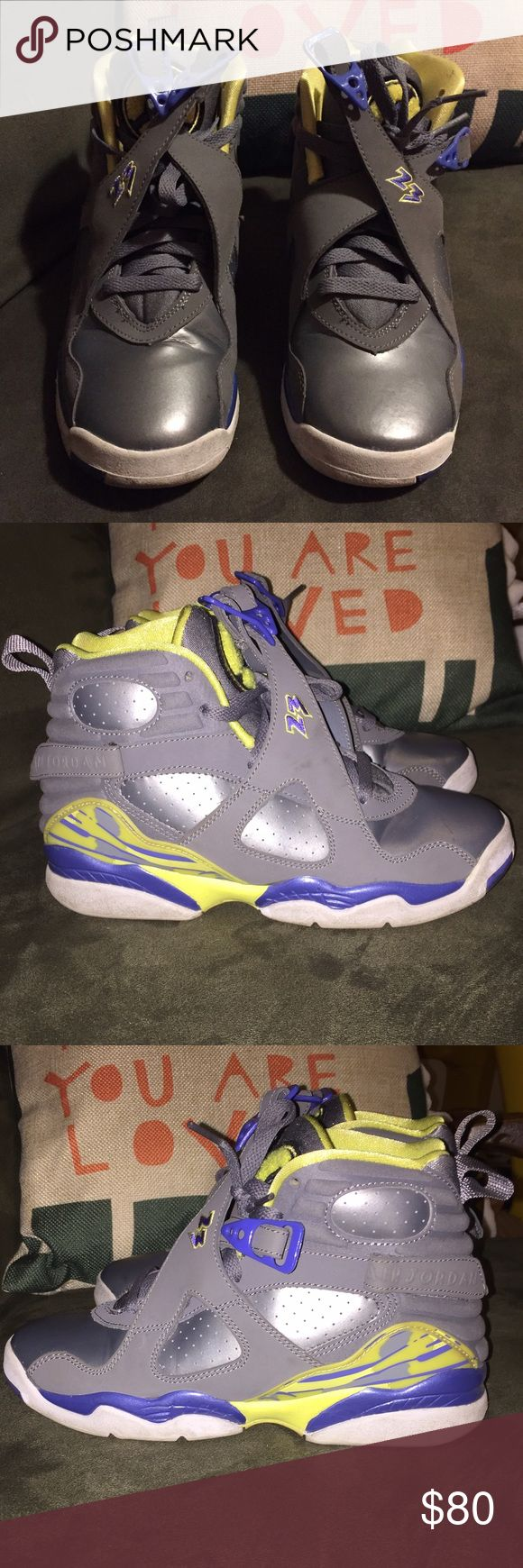 "Air Jordan VIII Retro GS ""Laney"" Air Jordan VIII Retro GS ""Laney"" in great condition // worn a couple of times // no trades // no shoe box Jordan Shoes Sneakers"