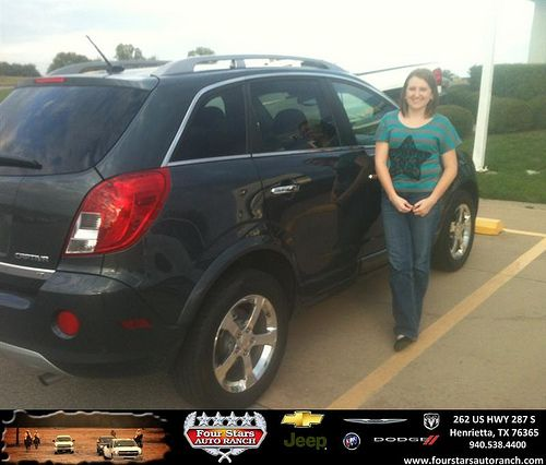 Thank you to Deborah Cummings on your new 2013 #Chevrolet #Captiva Sport Fleet from Hershel Coleman and everyone at Four Stars Auto Ranch! #LoveMyCar
