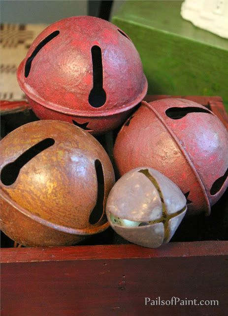 Pails of Paint: How to Make Rusty Christmas Bells...without Rust.