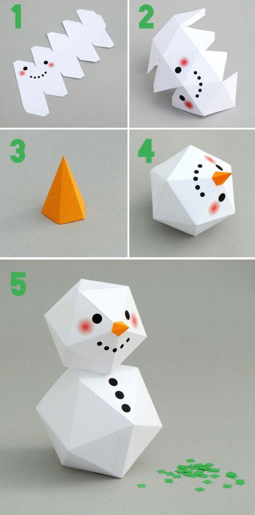DIY de geometrische sneeuwpop - Woontrendz