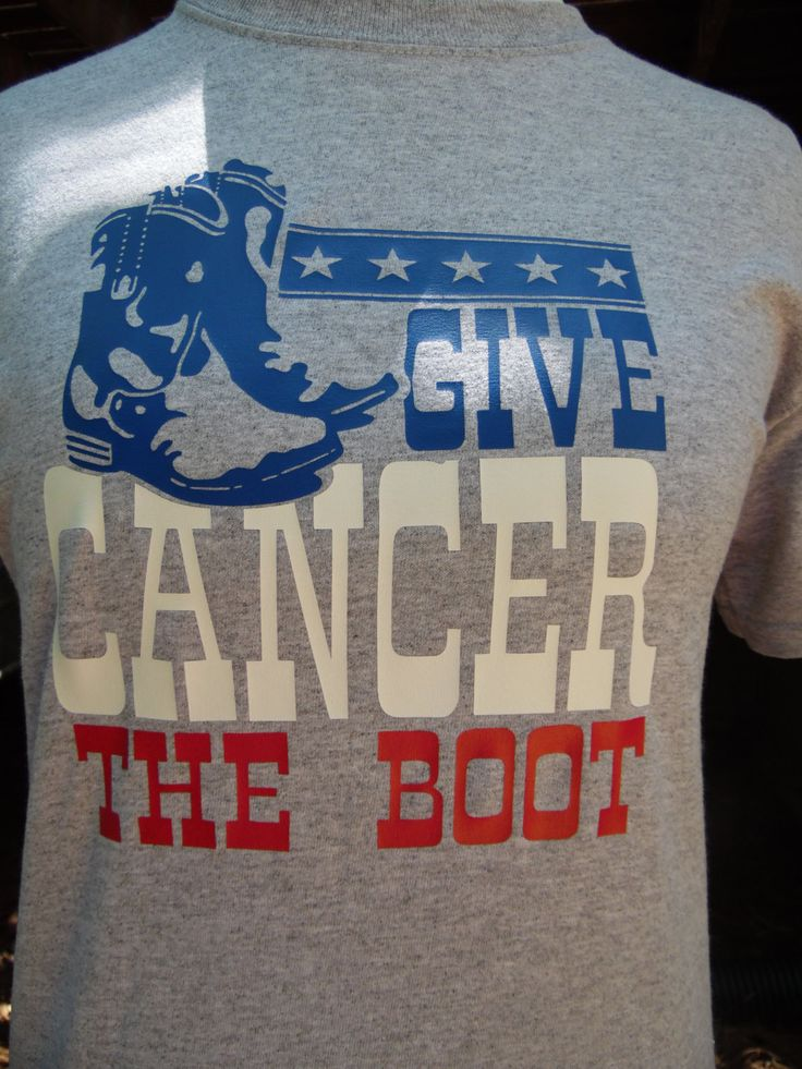 Cancer Walk Shirt, Cancer Awareness, Cowboy Cancer Shirt, Give Cancer the Boot, Western, Boots, Patriotic, Youth and Adult sizes by RoosterBoutique on Etsy
