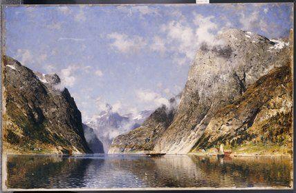 Un fjord norvégien de Adelsteen Normann (1848-1918, Norway)