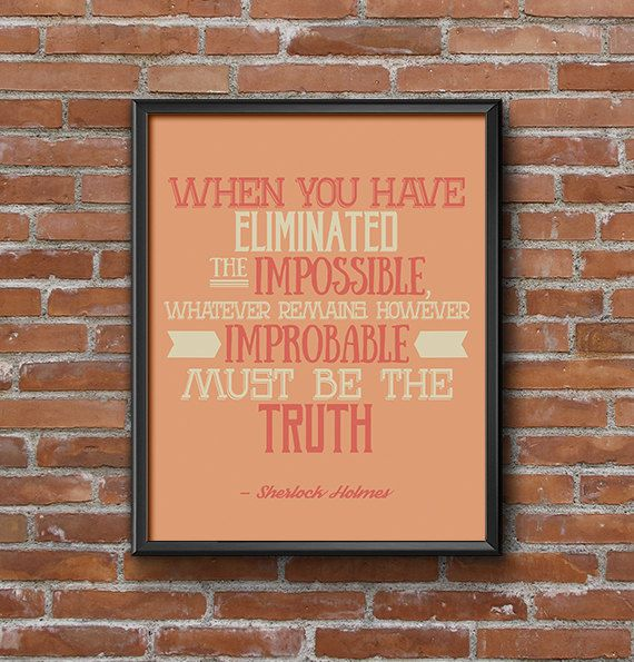 Sherlock Printable Quote Art Hipster Poster by JunebugPrintables