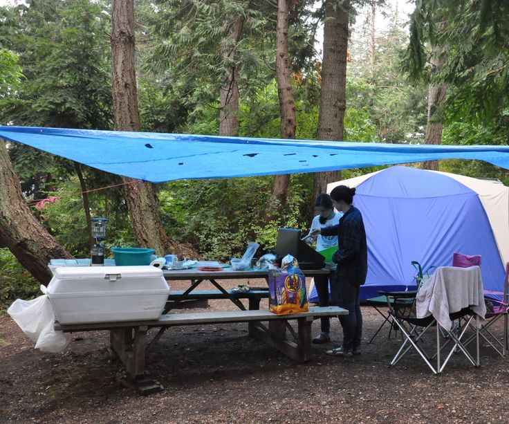 Here are a few simple tricks for car-camping in the rain. Most of these may be well-known to people who camp in the wet... but for those new to it, here are some little lifehacks we've put to use in various state parks here in the northwest.