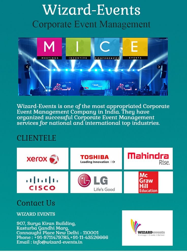 https://flic.kr/p/ViXukN | Find most specific Corporate Event Management services online | Visit Wizard-events.in now and get a bumper offer for Corporate Event Management services. They are the leading conference, seminar and event management company offering well event services.