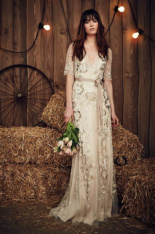 Affordable Rustic Ideas Plum Pretty Sugar Champagne Color Wedding With Colour Dress