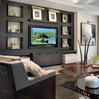 Inspiration For Family Room Cabinet Interiors