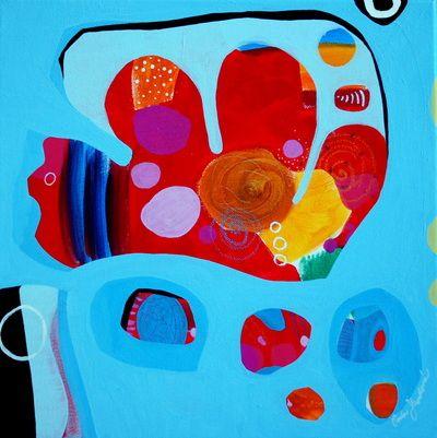 """""""4 Questions"""" by Pavla Hroudová, oil on canvas, 40x40cm"""