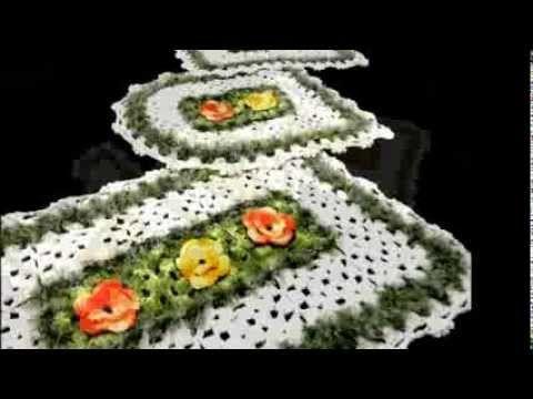 Jogo de banheiro de crochê 2 - Vários modelos