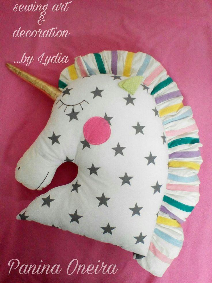 Handmade unicorn pillow for baby's room!