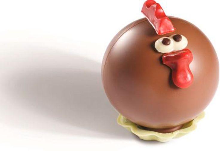 Huguette la poulette rondelette de Réauté #chocolat #chocolate #paques #easter #gastronomie #gastronomy