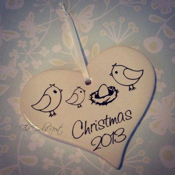 Custom Christmas Pregnancy Announcement by ShopTheOwlsNest on Etsy