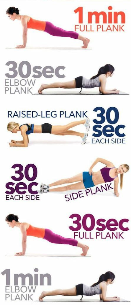 Plank exercices for a flat belly  fat burning vitamins
