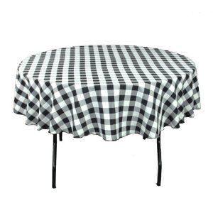 90 Inch Round Checkered Tablecloths - Visit to see more options
