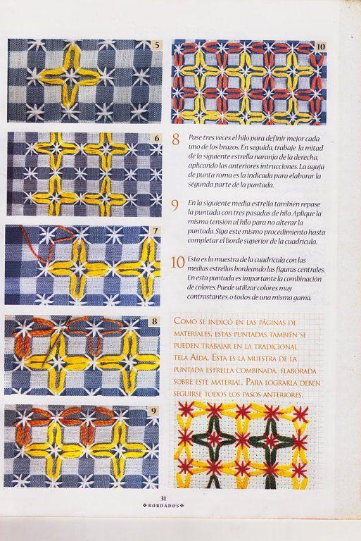 BORDADO ESPAÑOL   Aprender manualidades es facilisimo.com