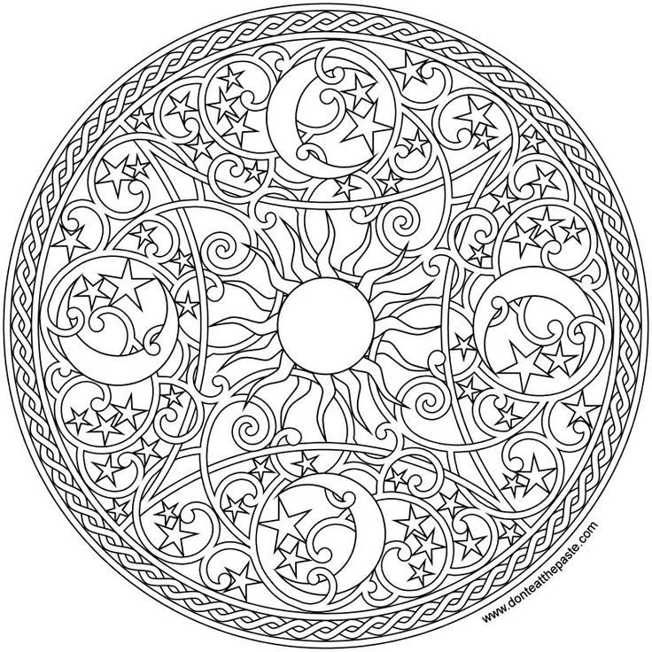 mandala celestial celestial mandala 2016 coloring page - Intricate Mandalas Coloring Pages