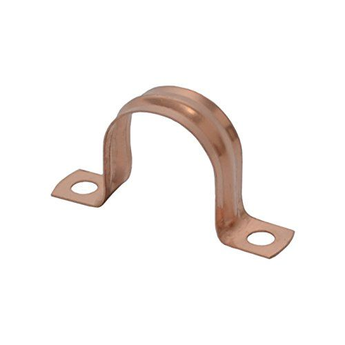 Bulk Hardware BH02942 Saddle Band Pipe Clip, 22 mm - Copper, Pack of 10