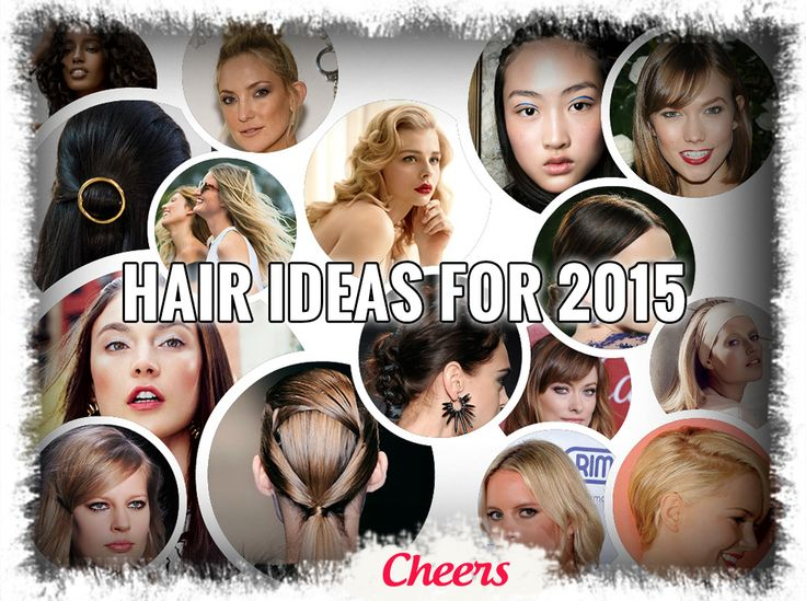 #Hair Ideas for 2015  1. SLEEK, LOW #BUN 2. BOUNCY PONYTAIL 3. PINUP-GIRL #PIGTAILS 4. TOUSLED TOPKNOT 5. WOVEN BRAID 6. CLASSIC GAMINE 7. FAUX #BANGS 8. OMBRÉ #HIGHLIGHTS 9. ALL-NATURAL #CURLS 10. FAUX UNDERCUT 11. BUBBLE BRAID 12. RETRO WAVES 13. #BRAIDED PRINCESS LEIA #BUNS 14. BOMBSHELL BLOWOUT 15. WOVEN #PONYTAIL 16. MODERN CRIMPS 17. RIBBON #BRAID