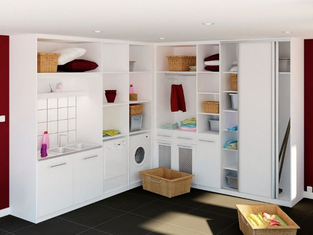 buanderie buanderie pinterest cellier rangement et. Black Bedroom Furniture Sets. Home Design Ideas