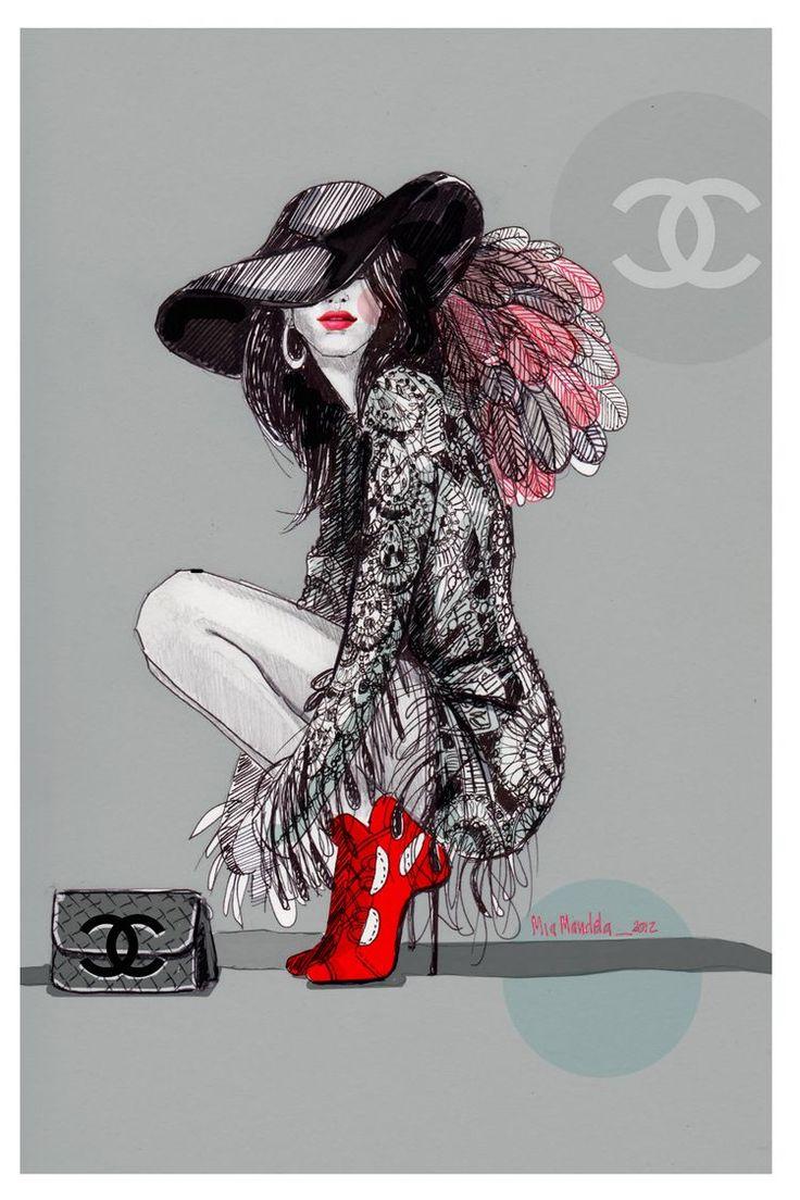 Best 25+ Fashion Illustration Chanel Ideas On Pinterest