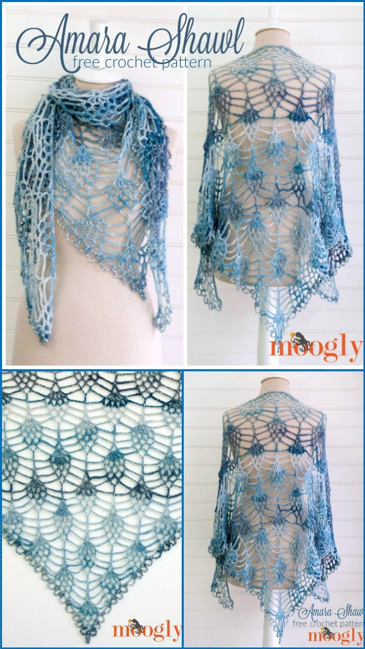 100 Free Crochet Shawl Patterns - Free Crochet Patterns - Page 12 of 19 - DIY & Crafts