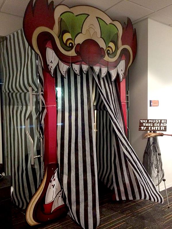 halloween ideas for the office. carnevil entrance idea halloween ideas for the office e