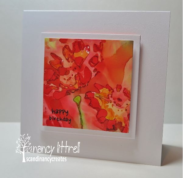 CAS Mix Up August Alcohol Inks Challenge