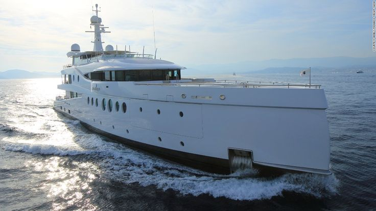 """Meet """"Madam Kate,"""" the latest offering from yacht builders <a href=""""http://www.monacoyachtshow.com/fr/company/496/AMELS.html"""" target=""""_blank"""">Amels. </a>The 60-meter-long boat features a pearlescent finish which sparkles in the sunlight."""