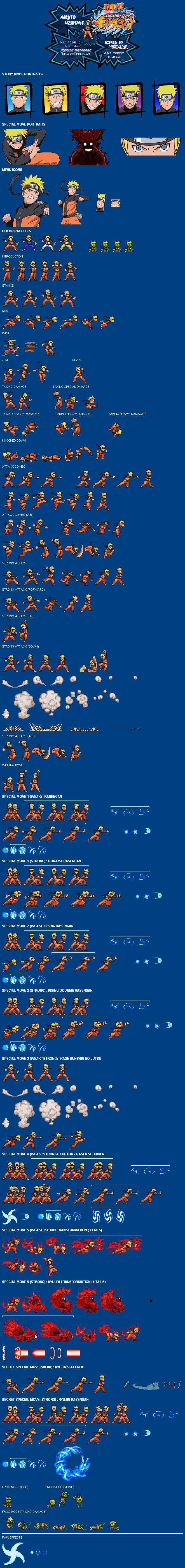 Sprite Database Naruto pixel art sprite sheet