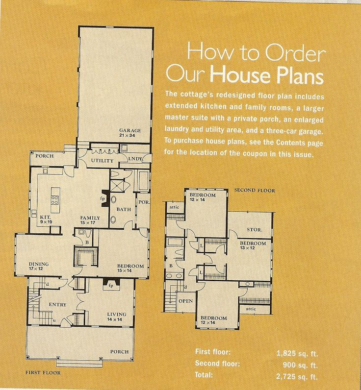 Country Living House of the Year floor plan, Feb 1996