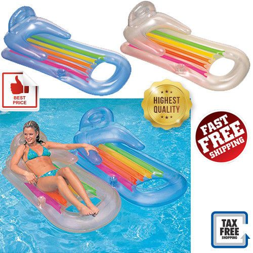 Intex Inflatable Swimming Pool Float Lounge Floating Raft