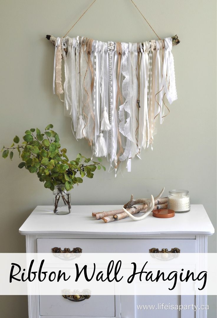 Ribbon Wall Hanging: Easy DIY Project                                                                                                                                                                                 More