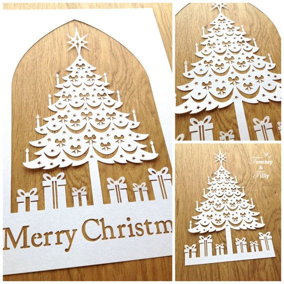 TEMPLATE 'Christmas Tree' Papercutting by TommyandTillyDesign