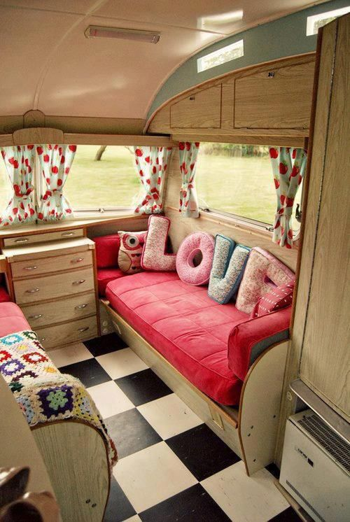 All you need is love, right? Super cute idea for the inside of your RV! Get more great ideas with hartranchresort.com