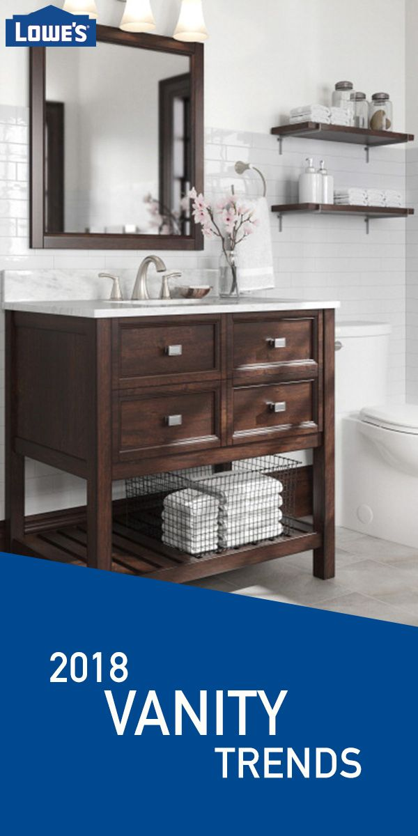 big sale a08e4 8abdd A mahogany bathroom vanity from the Scott Living collection ...