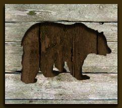 Black bear silhouette pallet art. X-Large – $350 L…