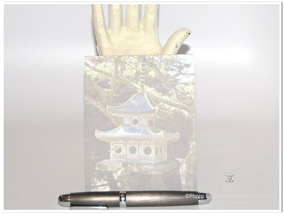 Asian Birdhouse Notepad by theRDBcollection| Photo by Renee Dent Blankenship,  $12.00