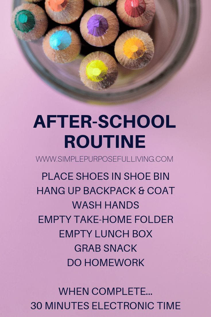 How to Establish an After School Routine+#back_to_school_bulletin_boards #back_t… – Back To School