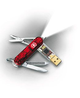 The modern Swiss Army knife can also be a USB.