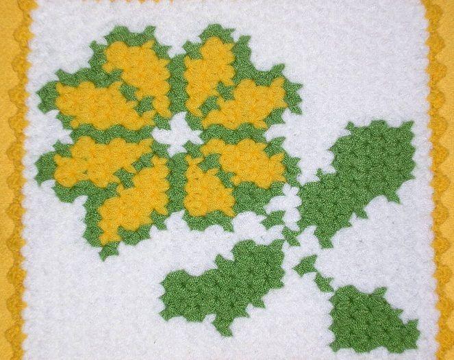 yeşil yapraklı beyaz sarı çiçekli 2013 çeyizlik lif modeli