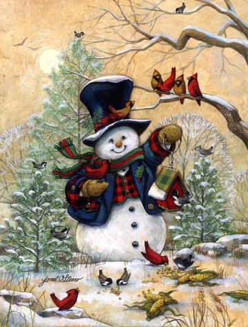 """Winter Friends"" by Janet Stever ♥"